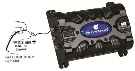 amazoncom planet audio pcf  farad capacitor