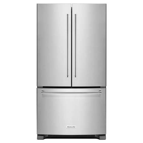 counter depth refrigerator dimensions kitchenaid kitchenaid 20 cu ft door refrigerator in