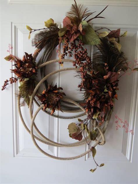 rustic cowboy lasso rope wreath  blinged