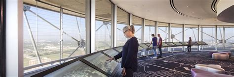 Reunion Tower Observation Deck by Reunion Tower Geo Deck The Beck