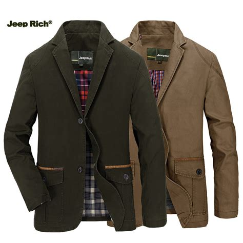jeep rich jacket jeep rich 174 men spring fall cotton blend casual buttons