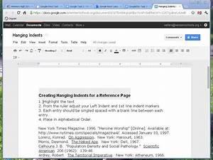 google docs hanging indent on vimeo With google docs add indent