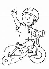 Coloring Caillou Pages Bike Printable Bicycle Drawing Cycling Print Cartoons Riding Safety Drawings Preschool Adult Getdrawings Toddlers Preschooler sketch template