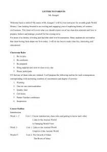 Welcome Back to School Parent Letter Template