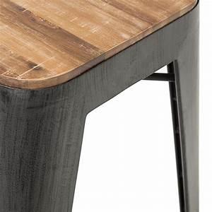 Barhocker Aus Holz Und Metall