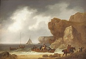 A painting of Cornish smugglers unloading their contraband ...