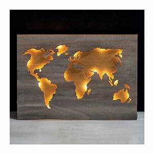 Carte Du Monde En Bois : carte du monde en bois d co murale creavea ~ Teatrodelosmanantiales.com Idées de Décoration