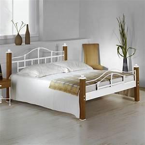 Landhaus Betten Holz : metallbett im landhausstil aus eiche 180x200 cm sinja ~ Markanthonyermac.com Haus und Dekorationen