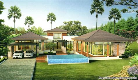 tropical style house plans small modern house plans house floor plans one storey split level modern tropical style