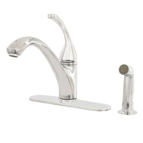 kohler forte pull out kitchen faucet kohler forte polished chrome 1 handle pull out kitchen faucet r10433 sd cp