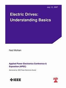 Electrical Drives Understanding Basics