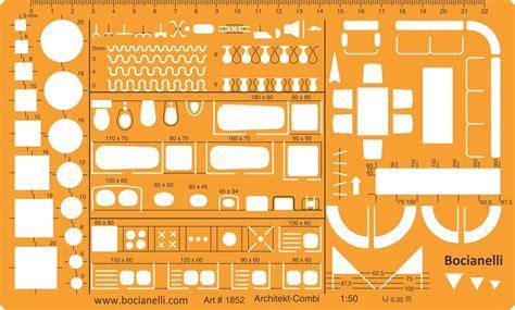 1:50 Scale Architectural Drawing Template Stencil   Mkateb.com