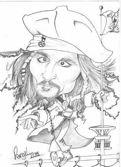 Depp Johnny Celebrities Coloring Pages Printable Drawings