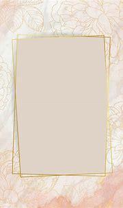 Download premium vector of Pink golden floral frame vector ...
