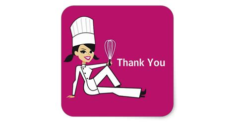 Baby Shower Magnets by Original Chef With Whisk Thank You Stickers Zazzle