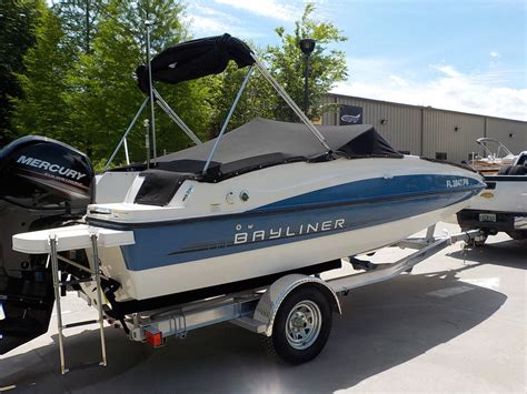 Bayliner 190 Deck Boat 150 Hp Bayliner 190 Deck Boat Series Bow Rider Family Pleasure Boat 83 Pictures 2013 For Sale For