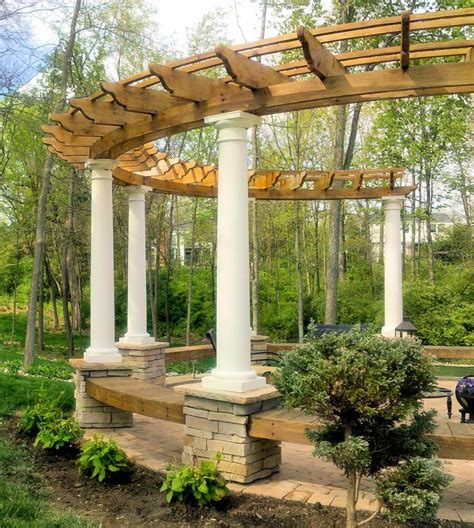 outdoor arbor ideas 21 best images about pergolas curved on pinterest deck