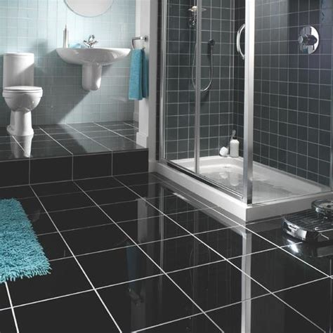 Black Bathroom Floor Tiles by 23 Black Sparkle Bathroom Floor Tiles Ideas And Pictures 2019