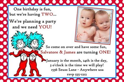 Dr Seuss Twins Birthday Invitation Sample Bathroom Corner Cabinet White Simple Under Lighting Antique Paint Home Depot Laundry Cabinets Microwave Bracket Small Modern Media Bar Free Standing