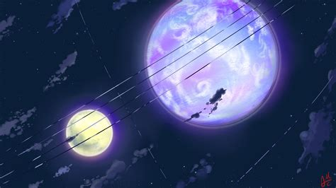 Anime Moon Wallpaper - clouds mac moon scenic anime sky