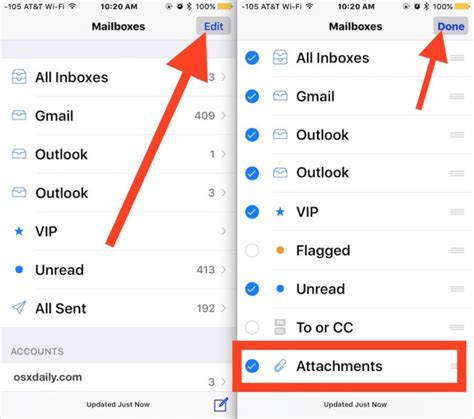 search email on iphone how to view emails with attachments only in mail for ios