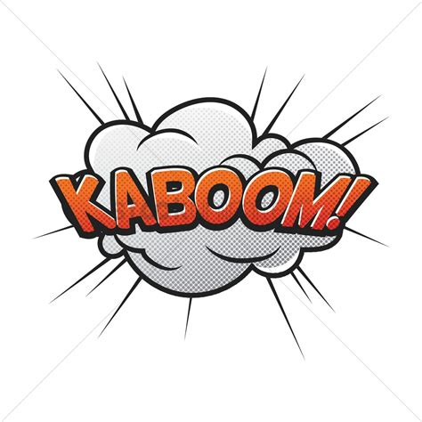 Comic Bubble Kaboom Vector Image Stockunlimited