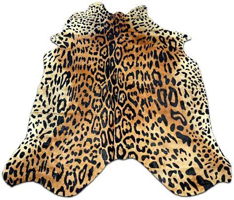 Leopard Cowhide Rug by Jaguar On Beige Cowhide Rug Size 7 X 5 5 Leopard Print