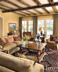 Yellow Country Living Rooms