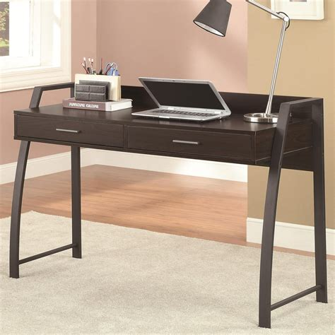 coaster 801141 black metal office desk a sofa