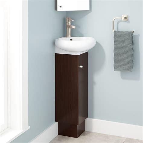 mariella corner wenge vanity white porcelain sink