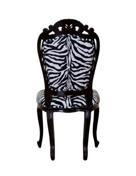 chaise zebre chaise baroque zebre