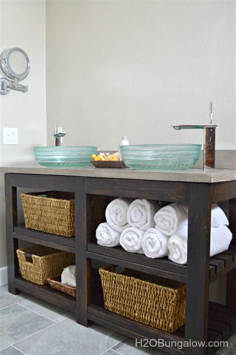 hometalk build  open shelf bathroom vanity