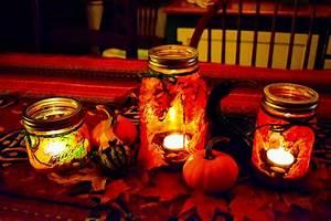fall, leaf, mason, jar, lanterns, , u2013, our, beautifully, messy, house