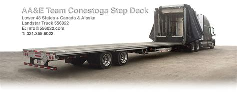 Step Deck Conestoga Carriers by Step Deck Conestoga Trailer Dimensions Reitnouer
