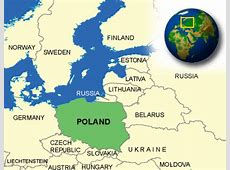 Map of Poland Terrain, area and outline maps of Poland