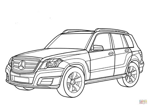 Mercedes Glk Class Coloring Page