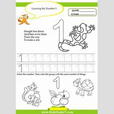 Kids Under 7 Free Printable Kindergarten Number Worksheets  Ideas  Pinterest  Math Practices