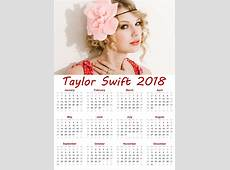 Taylor Swift Printable Calendar 2018 Download – Download