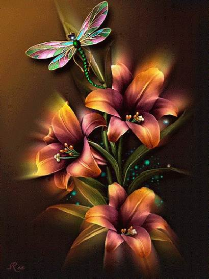 Flores Rosas Destellos Brillos Destello Animaciones Brillo