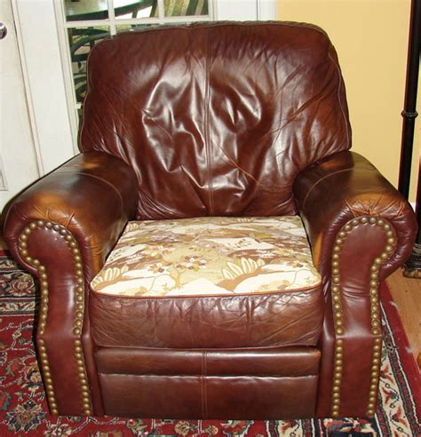 How To Reupholster A Reclining Sofa by How To Reupholster A Recliner Seat 5 Steps With Pictures