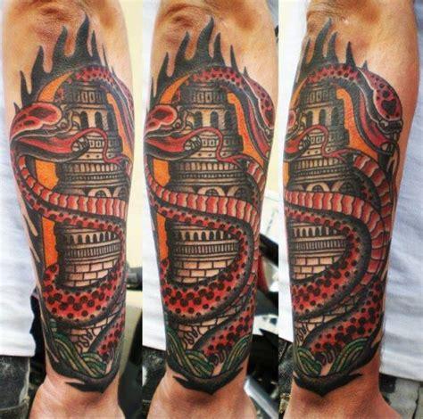 Arm Snake Tattoo by Tattoo Tai