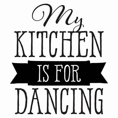 Kitchen Dancing Wall Quotes Decal Vinyl Wallquotes