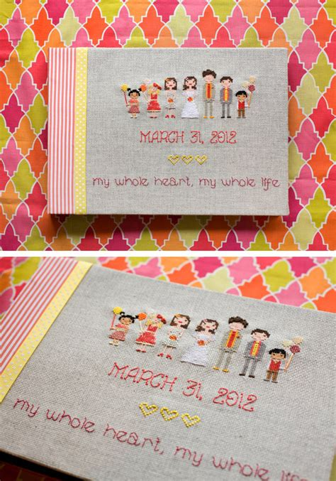cross stitch guest book pictures   images