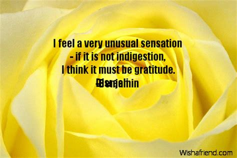 feel   unusual sensation   quote