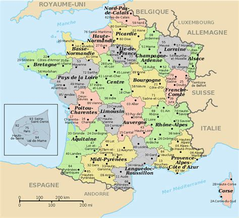 Carte De Et Region Et Departement by Carte Departements Et Regions De Ajs