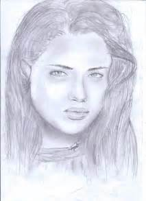 Pencil Sketch Girl Face Drawing