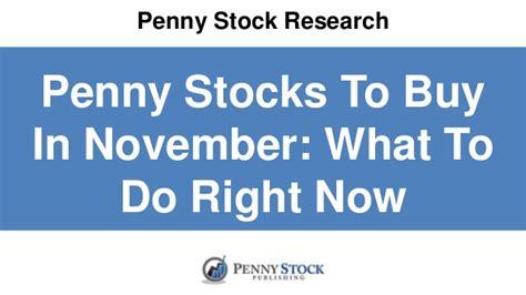 penny stocks  buy  november