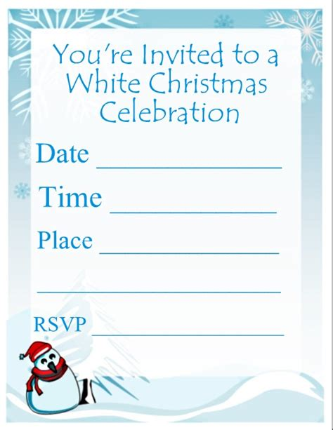 Christmas Party Invitation Templates Printable