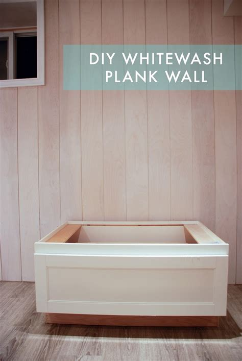 rambling renovators part ii diy whitewashed plank walls