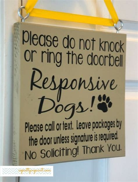 knock  ring  doorbell responsive dogs